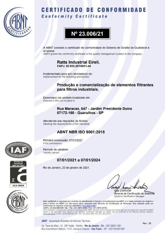 Certificado ABNT